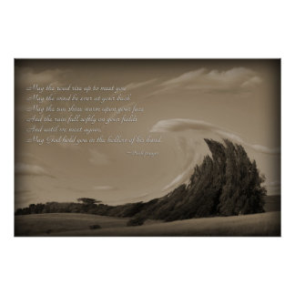 Irish Prayer, Blessing gifts Imaginative Imagery Poster