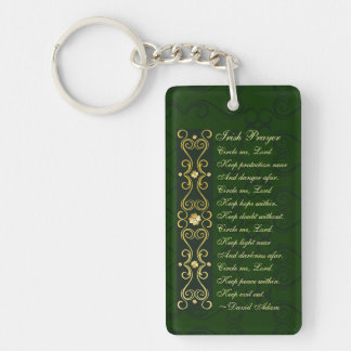 Irish Prayer, Circle me Lord, Keychain