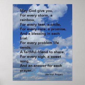 Irish Prayer Poster