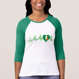 irish pride heartbeat shamrock t-shirt design