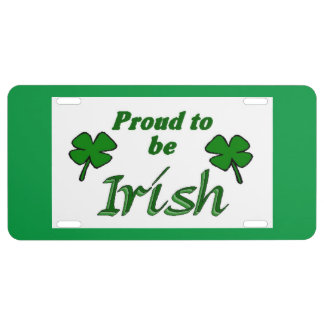 Irish Pride License Plate