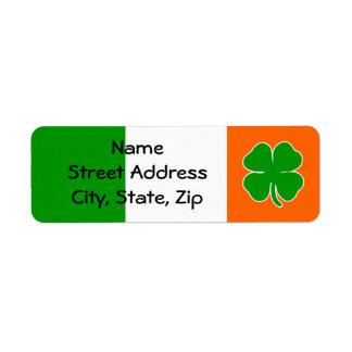 [Irish Pride] Shamrock Flag Return Address Label