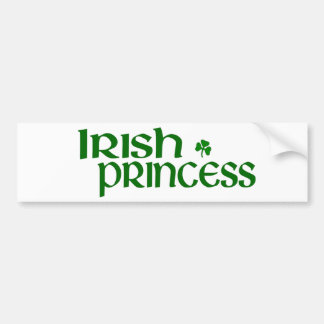 Irish Princess Bumper Sticker