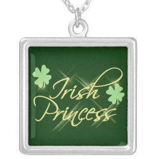 Irish Princess Green Shamrock Pendant Necklace