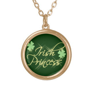 Irish Princess Green Shamrock Pendant Necklace