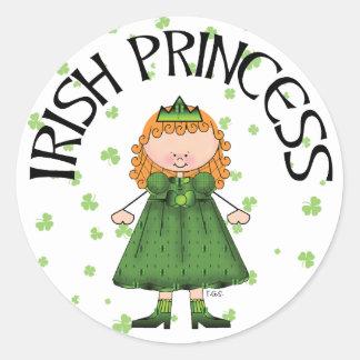 Irish Princess Round Stickers