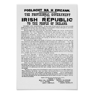 Irish Proclamation of 1916 Poster