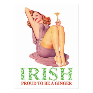 Irish - Proud to Be a Ginger! Postcard
