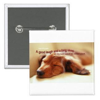 Irish Proverb and Sleeping Dog Button
