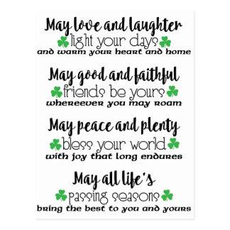 Irish Proverb Blessing Postcard