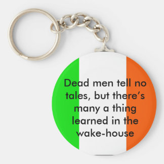 Irish Proverb Dead Men tell no tales Basic Round Button Keychain