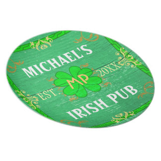 Irish Pub Create Your Own Home Bar Personalized Plates