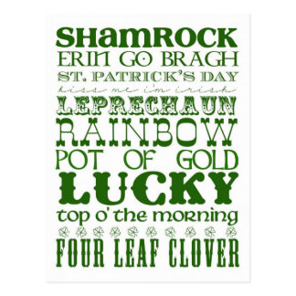 Irish quote and text postcard