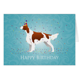 Irish Red and White Birthday Design Card