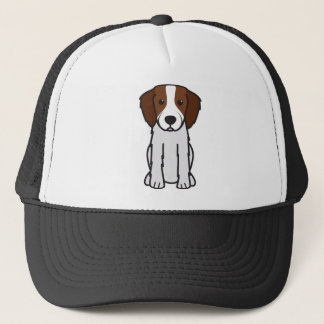 Irish Red and White Setter Dog Cartoon Trucker Hat