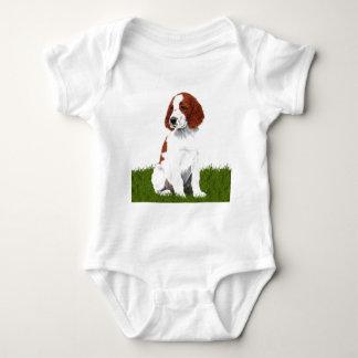 Irish Red and White Setter Puppy Baby Bodysuit