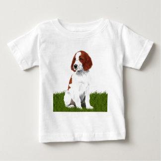 Irish Red and White Setter Puppy Baby T-Shirt