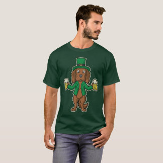 Irish Red White Setter Beers St Patrick's Day T-Shirt