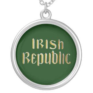 Irish Republic - Republic of Ireland Flag Silver Plated Necklace