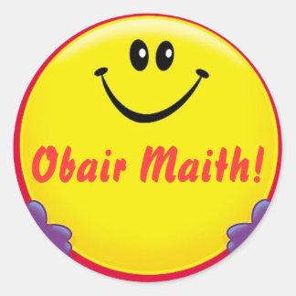 Irish reward sticker Obair Maith = Good Work