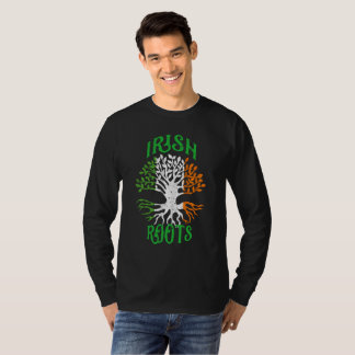 Irish Roots Heritage Tree Flag of Ireland T-Shirt