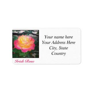 Irish Rose Address Labels