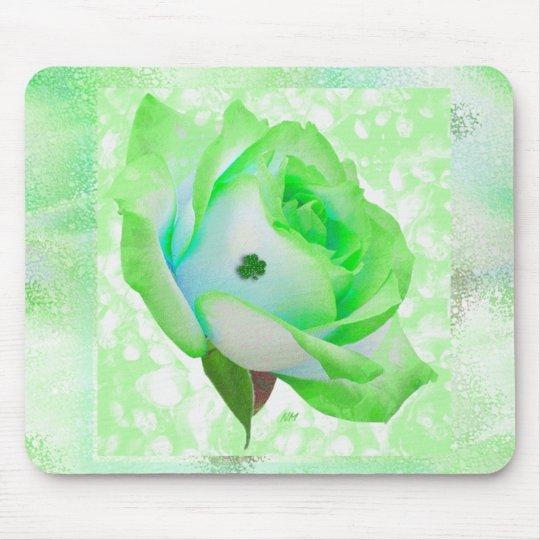 Irish rose and shamrock! mouse pad