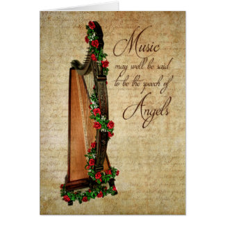 Irish Rose Harp Note Card