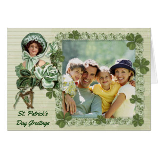 Irish Rose Photo Greetings Card