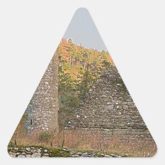 Irish Round Towers over 1,000 years old Triangle Sticker