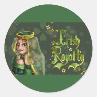 Irish Royalty Classic Round Sticker