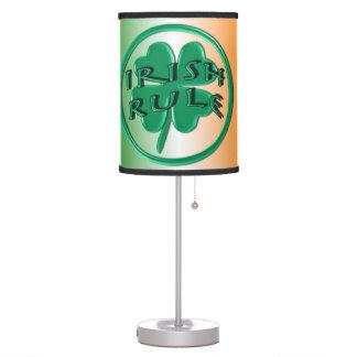 Irish Rule - Ireland Colors and Shamrock Table Lamp