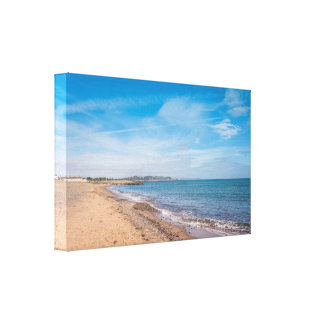 Irish sandy beach landscape canvas print