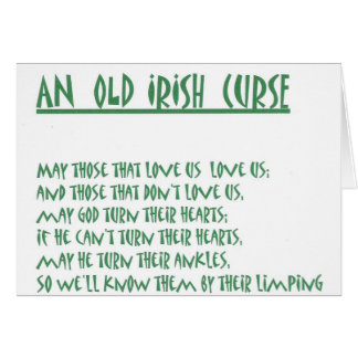 irish saying card