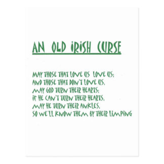 Irish Saying Postcard