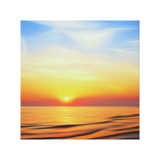 Irish Sea Sunset Canvas Print