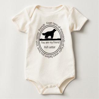 Irish setter and mark baby bodysuit