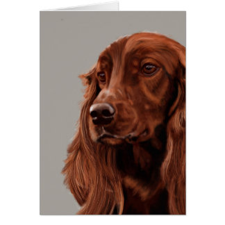 Irish Setter Card
