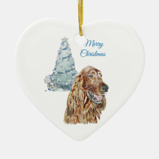 Irish Setter Ceramic Ornament