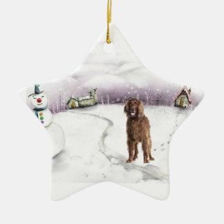 Irish Setter Christmas ornament