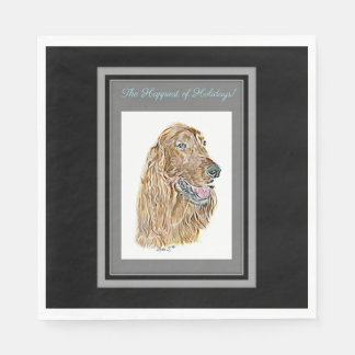 Irish Setter Disposable Napkins