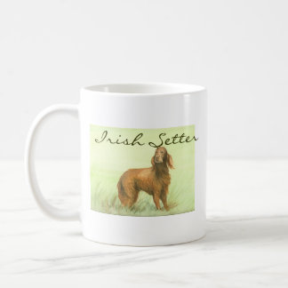 """Irish Setter"" Dog Art Mug"