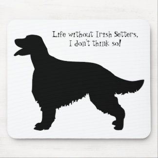 Irish Setter dog, black silhouette mousepad, gift Mouse Pad