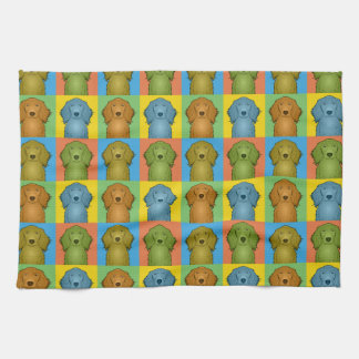 Irish Setter Dog Cartoon Pop-Art Kitchen Towel