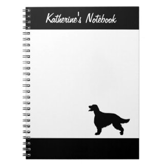 Irish Setter dog custom name notebook