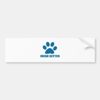 IRISH SETTER DOG DESIGNS BUMPER STICKER