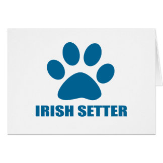 IRISH SETTER DOG DESIGNS CARD