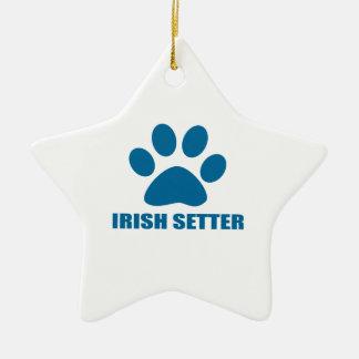 IRISH SETTER DOG DESIGNS CERAMIC ORNAMENT