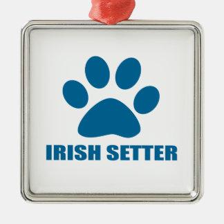 IRISH SETTER DOG DESIGNS METAL ORNAMENT