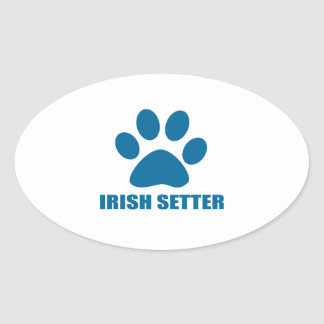 IRISH SETTER DOG DESIGNS OVAL STICKER